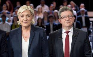 Marine Le Pen et Jean-Luc Mélenchon sur France 2, il y a quelques semaines.