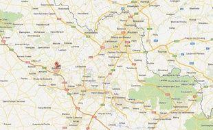 Google Maps de Béthune (Pas-de-Calais).