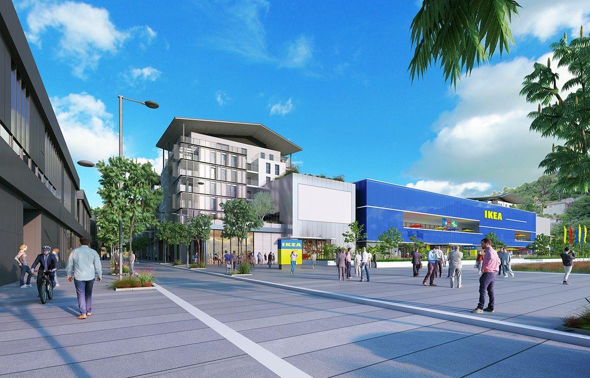 Illustration du futur magasin Ikea de la Plaine du Var – Wilmotte & Associés SA / Inter IKEA Systems B.V. 2015