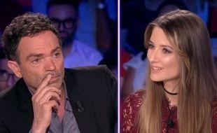 Yann Moix et Diane Ducret dans «On n'est pas couché» diffusé le 9 juin 2018 sur France 2.