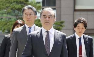 Carlos Ghosn devant le palais de justice à Tokyo, le 23 octobre 2019.