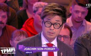 Le député Joachim Son-Forget a annoncé sa candidature à la présidentielle de 2022 sur le plateau de «TPMP» le 12 février 2020.