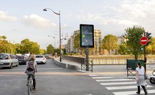 Des panneaux lumineux déployés à Paris avec JCDecaux (Illustration).