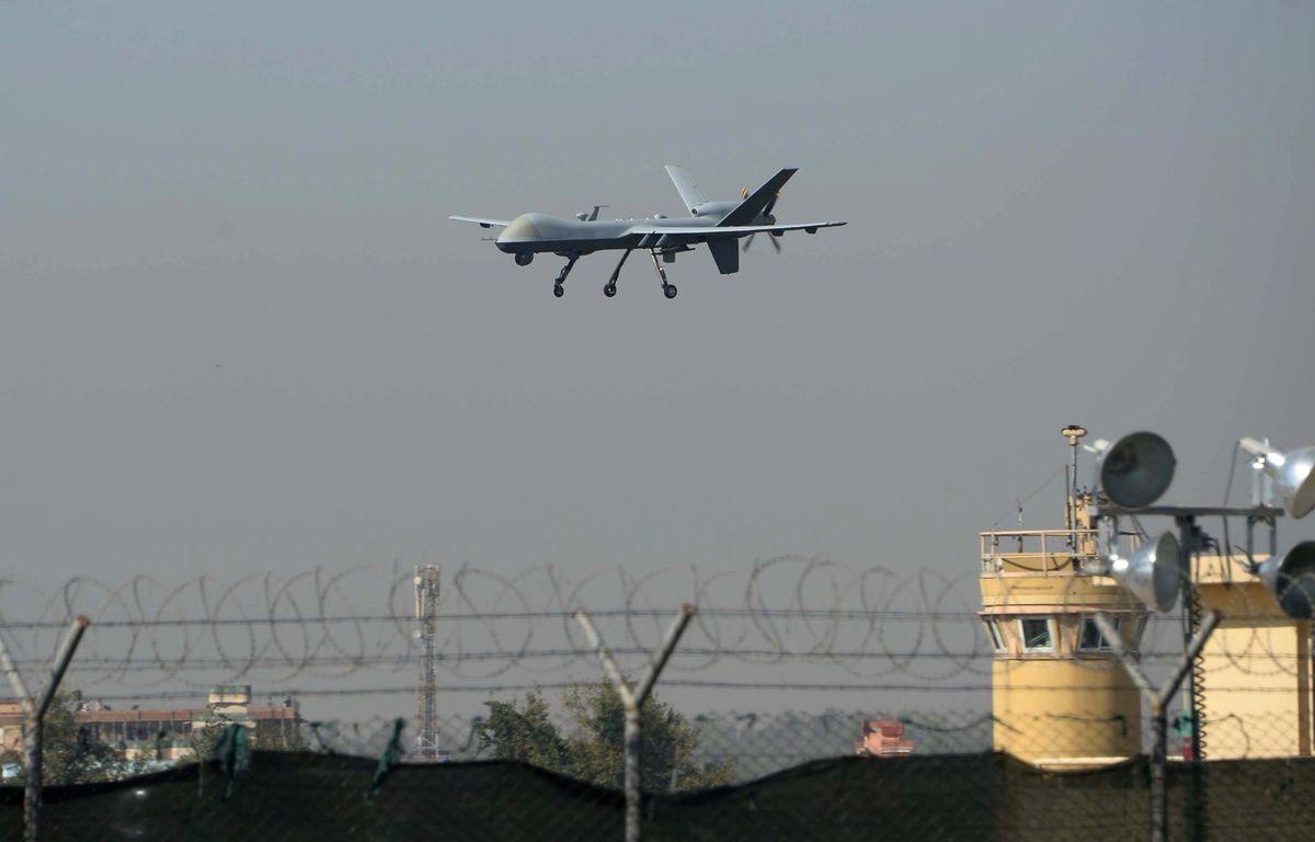 Un drone américain atterrit à l'aéroport de Jalalabad, en Afghanistan (illustration). – Noorullah Shirzada / AFP