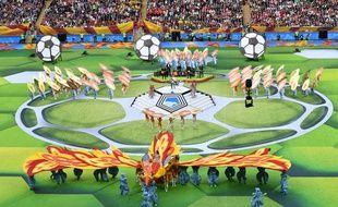 La cérémonie d'ouverture de la 21e édition de la Coupe du Monde.
