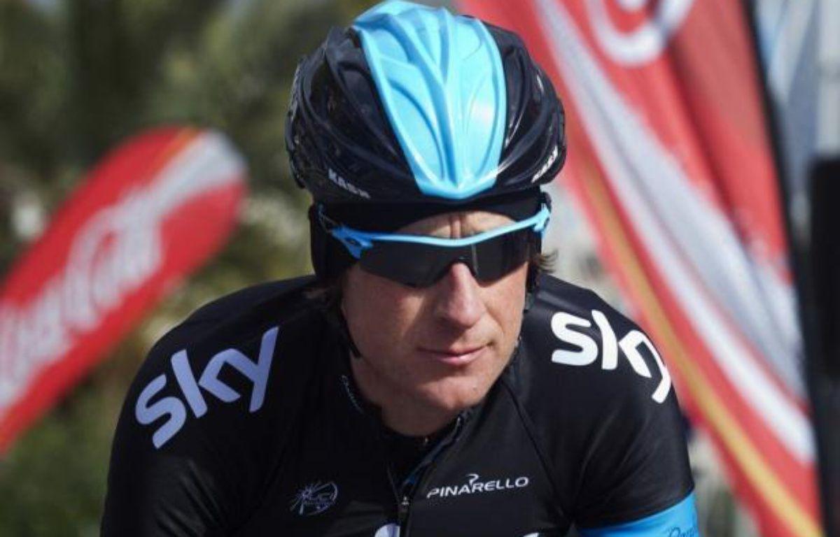 """Le Britannique Bradley Wiggins, vainqueur du Tour de France 2012, s'est déclaré """"motivé"""" par un doublé Giro-Tour cette saison, dans une interview publiée jeudi par le quotidien sportif espagnol Marca. – Jaime Reina afp.com"""