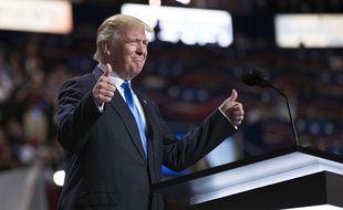 Donald Trump (ici le 18 juillet) a été désigné candidat du parti républicain le 19 juillet 2016.