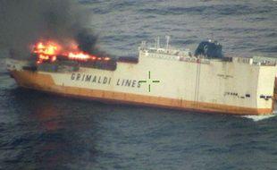 Le navire «Grande America» a fait naufrage à 333 km à l'ouest de La Rochelle, le 12 mars 2019.