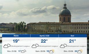 Météo Toulouse: Prévisions du jeudi 20 juin 2019