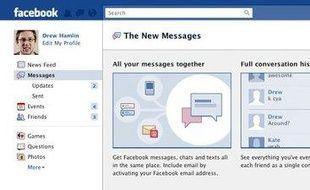 La boîte unifiée de Facebook Messages, présentée le 15 novembre 2010