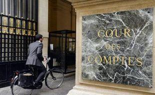 L'entrée de la Cour des Comptes le 17 juin 2014 à Paris