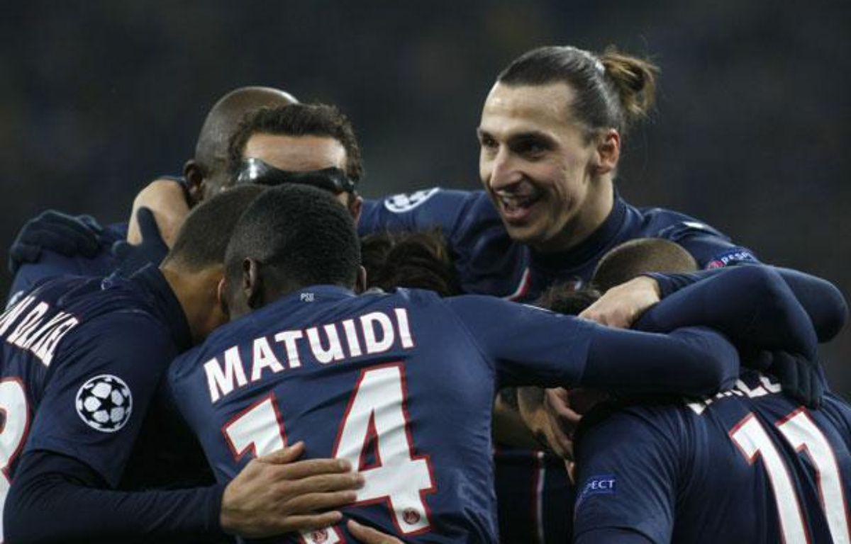 Les joueurs du PSG, lors de la victoire à Kiev en Ligue des champions, le 21 novembre 2012. – REUTERS