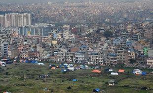 Vue de la ville de Katmandou, en avril 2015.