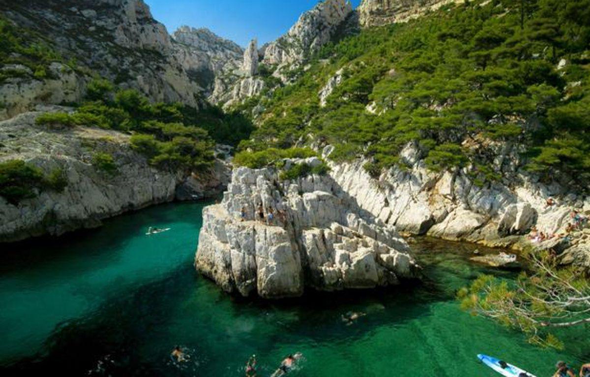 Calanque de Sugiton, à Marseille (Bouches-du-Rhône). – SUPERSTOCK/SIPA