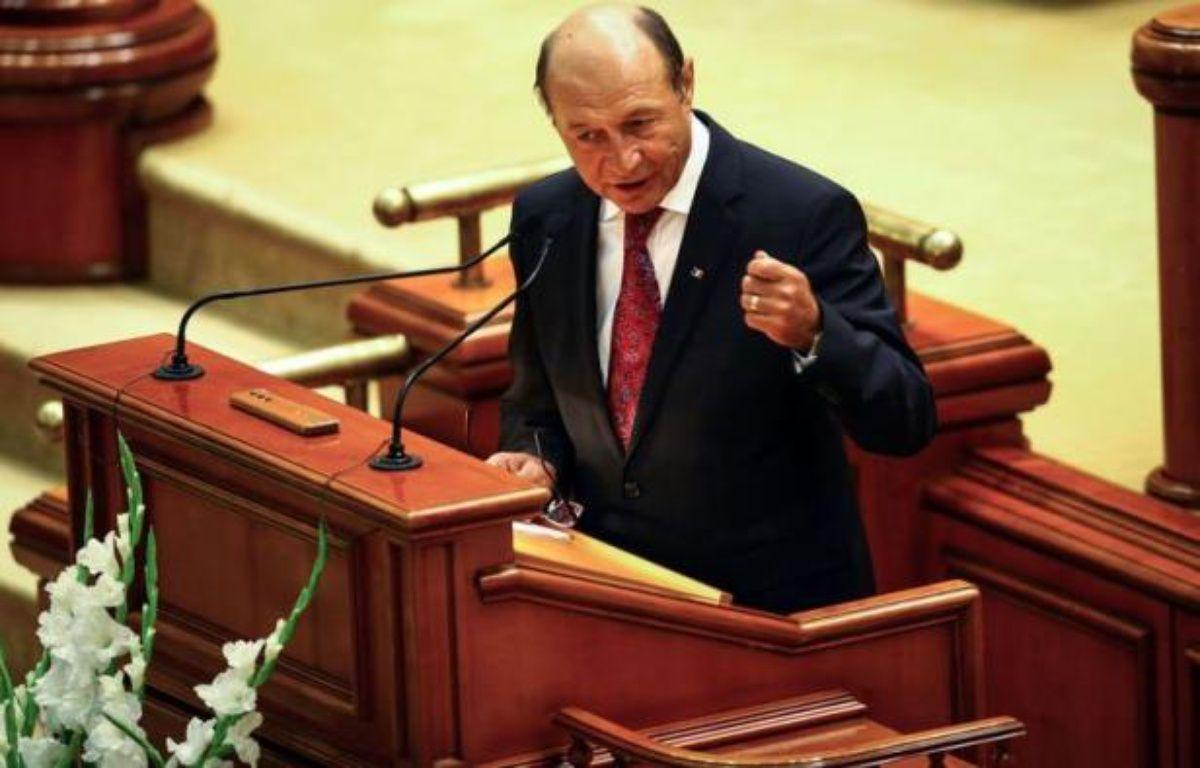 La destitution de M. Basescu ne deviendra définitive que si elle est validée par un référendum organisé le 29 juillet. – Andrei Pungovschi afp.com