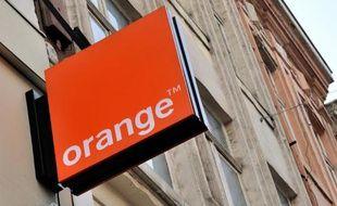 L'enseigne de l'opérateur téléphonique Orange
