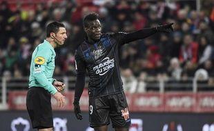 Mario Balotelli lors de Dijon-Nice (3-2) en Ligue 1, le 10 février 2018.