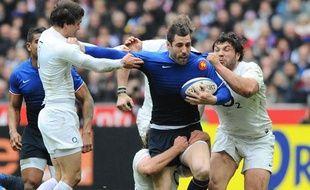 Julien Malzieu pendant France-Angleterre dans le tournoi des VI nations de rugby, au Stade de France, le 11 mars 2012.