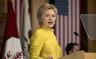 Hillary Clinton à l'Université de Stanford (Californie), le 23 mars 2016.