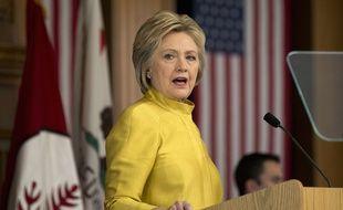 Hillary Clinton à l'Université de Stanford (Californie), le 23 mars 2016.