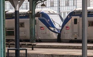 Des trains SNCF à l'arrêt