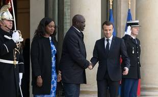 Emmanuel Macron a reçu ce mercredi son homologue libérien George Weah pour un déjeuner de travail à l'Elysée.