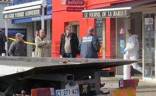 Marseille 02 MARS 2015 Un règlement de compte s'est déroulé lundi matin dans une boulangerie de Marignane.