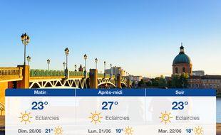 Météo Toulouse: Prévisions du samedi 19 juin 2021