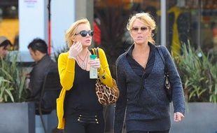 L'actrice Lindsay Lohan et sa mère, Dina
