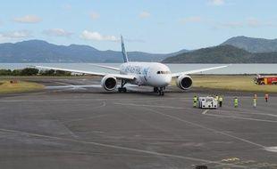 L'aéroport de Dzaoudzi à Mayotte.