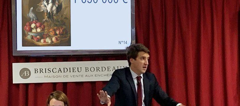 Antoine Briscadieu, le commissaire-priseur lors de la vente.