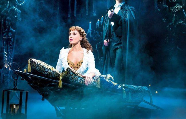 Le Fantôme et Christine dans Le Fantôme de l'Opéra