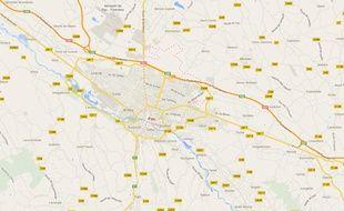 Google Maps Pau.