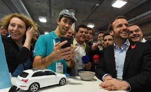 Las Vegas (Etats-Unis), le 7 janvier 2016. Muriel Pénicaud et Emmanuel Macron le jour de la fameuse soirée qui a conduit à l'ouverture d'une information judiciaire.