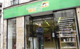 paris, le 28 août 2014, reportage à la boutique Un monde vegan