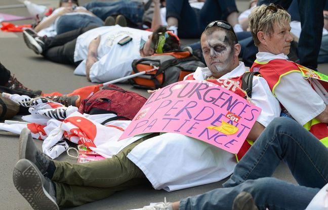 Les urgentistes étaient mobilisés le 6 juin à Paris pour dénoncer leurs conditions de travail.