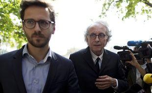 Matthieu de Vallois et Gilles-Jean Portejoie à Paris le 24 avril 2015.