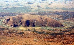 Le rocher de Uluru (Ayers Rock) en Australie, le 16 février 2007.