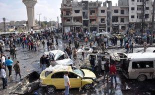 Un double attentat à la voiture piégée est survenu le 21 février 2016, non loin de Homs, en Syrie.