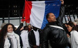 Une manifestation de soutien à Christiane Taubira s'est déroulée à Nantes, le 11 novembre 2013