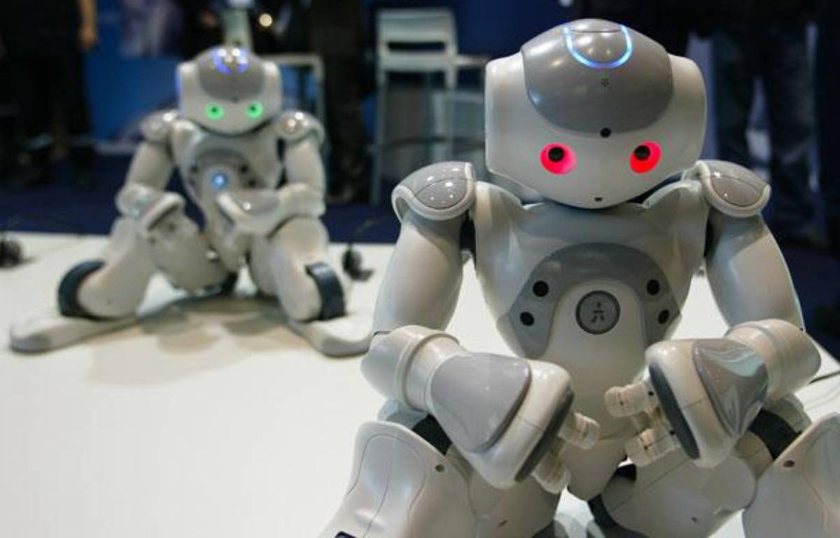Les robots humanoïdes de chez Nao au sommet Innorobo de Lyon, le 23 mars 2011. – C. VILLEMAIN / 20 MINUTES