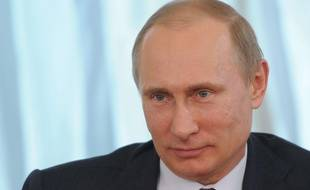 Le président russe Vladimir Poutine, à la résidence de Novo-Ogaryovo, le 10 avril 2014.
