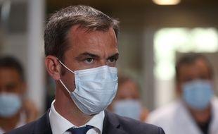 Le ministre de la Santé, Olivier Véran, au CHU de Montpellier le 11 août 2020.
