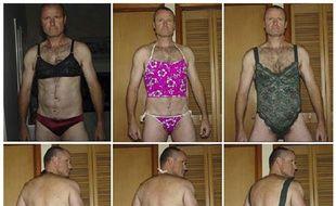 Russell Williams, colonel de l'armée canadienne reconnu coupable en octobre 2010 de meurtres à caractère sexuel, pose dans les sous-vêtements qu'il a volés.