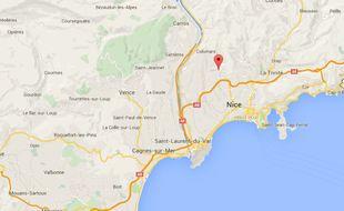 Saint-Pancrace, sur les hauteurs de Nice.