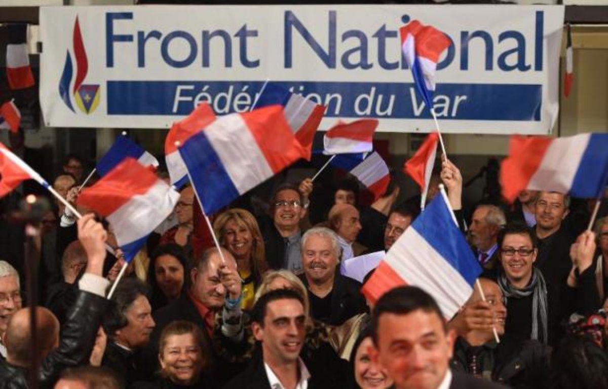 Des partisans du Front national le 22 mars 2015 à La Valette-du-Var – Boris Horvat AFP
