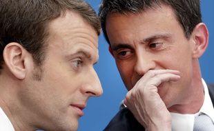 Emmanuel Macron et Manuel Valls, le 8 avril 2015 à Paris