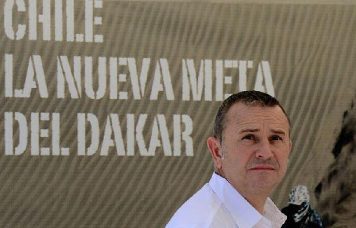 Etienne Lavigne, le patron du Dakar, le 12 décembre 2012, au Chili. – M.BERNETTI/AFP