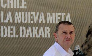 Etienne Lavigne, le patron du Dakar, le 12 décembre 2012, au Chili.