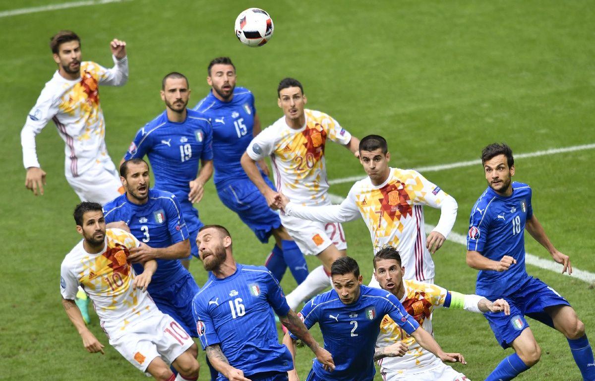 L'impressionnante défense de l'Italie dans sa zone préférentielle: Sa surface de réparation. – PHILIPPE LOPEZ / AFP